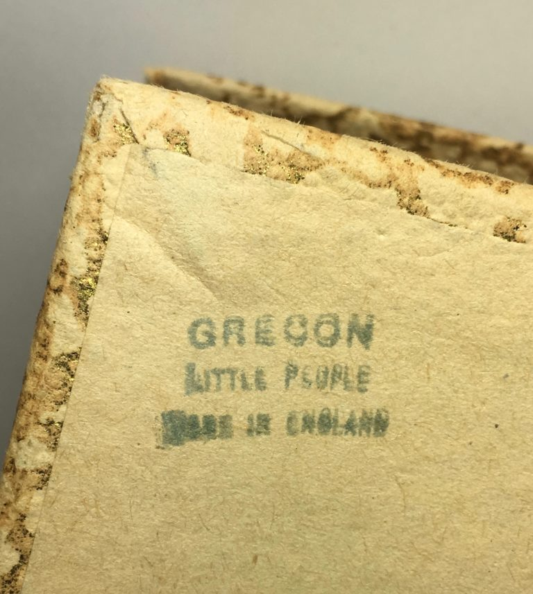 Stamp on the original box of Grecon Queen Elizabeth II doll.