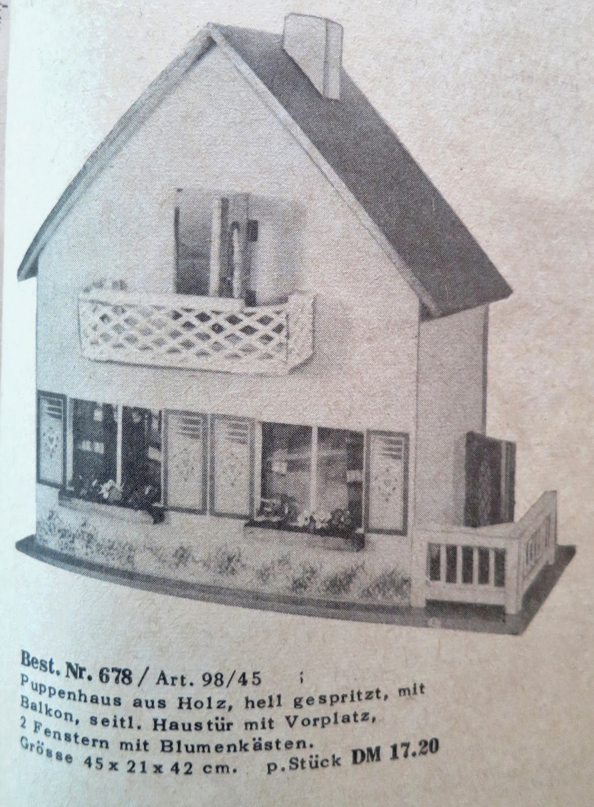 1957 greyscale catalogue pic of Schönherr small cottage