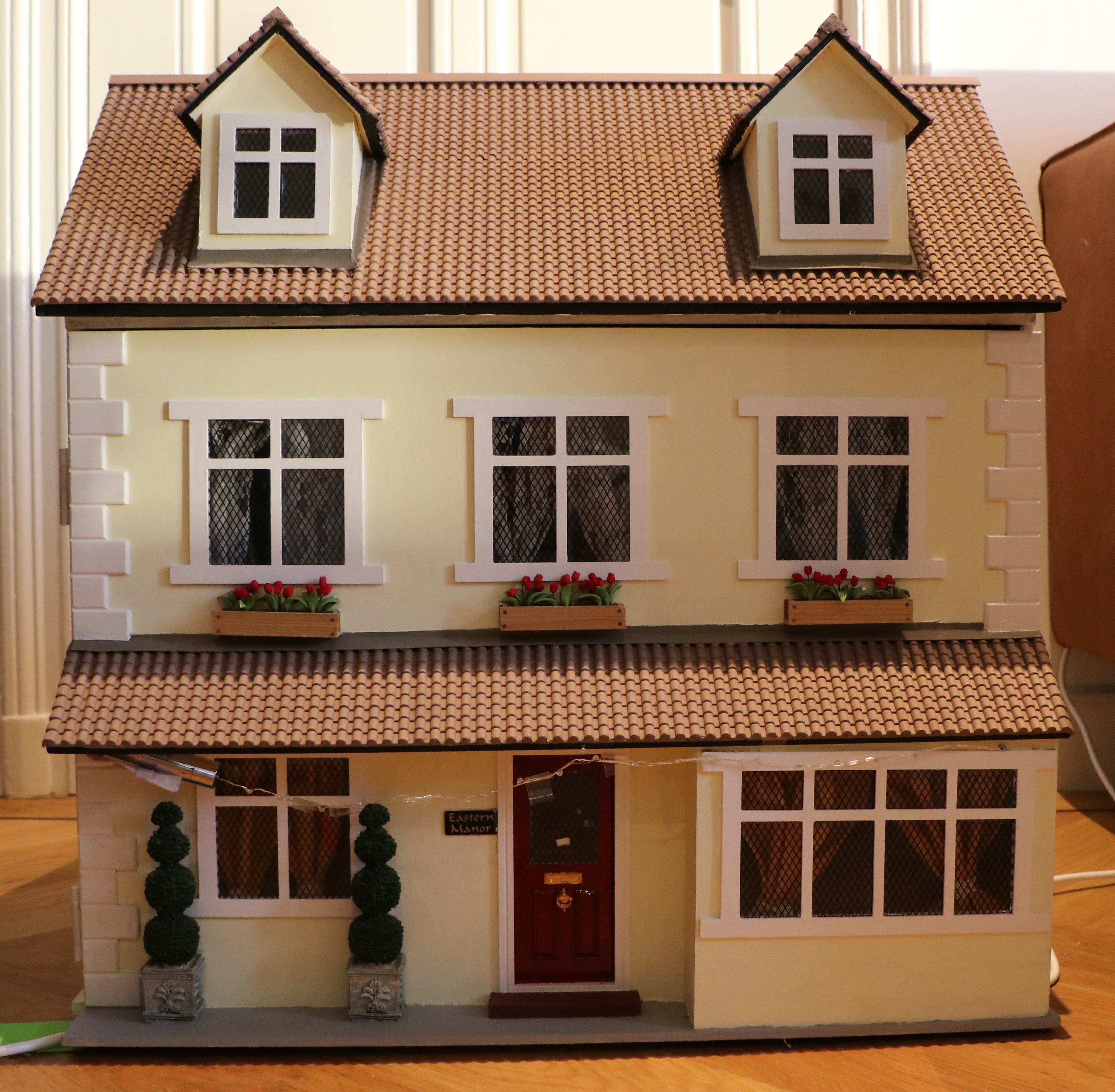Front of finished dolls house
