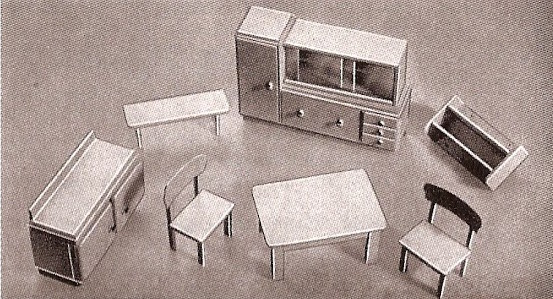 Kitchen set in the Rülke ad in Das Spielzeug 1938
