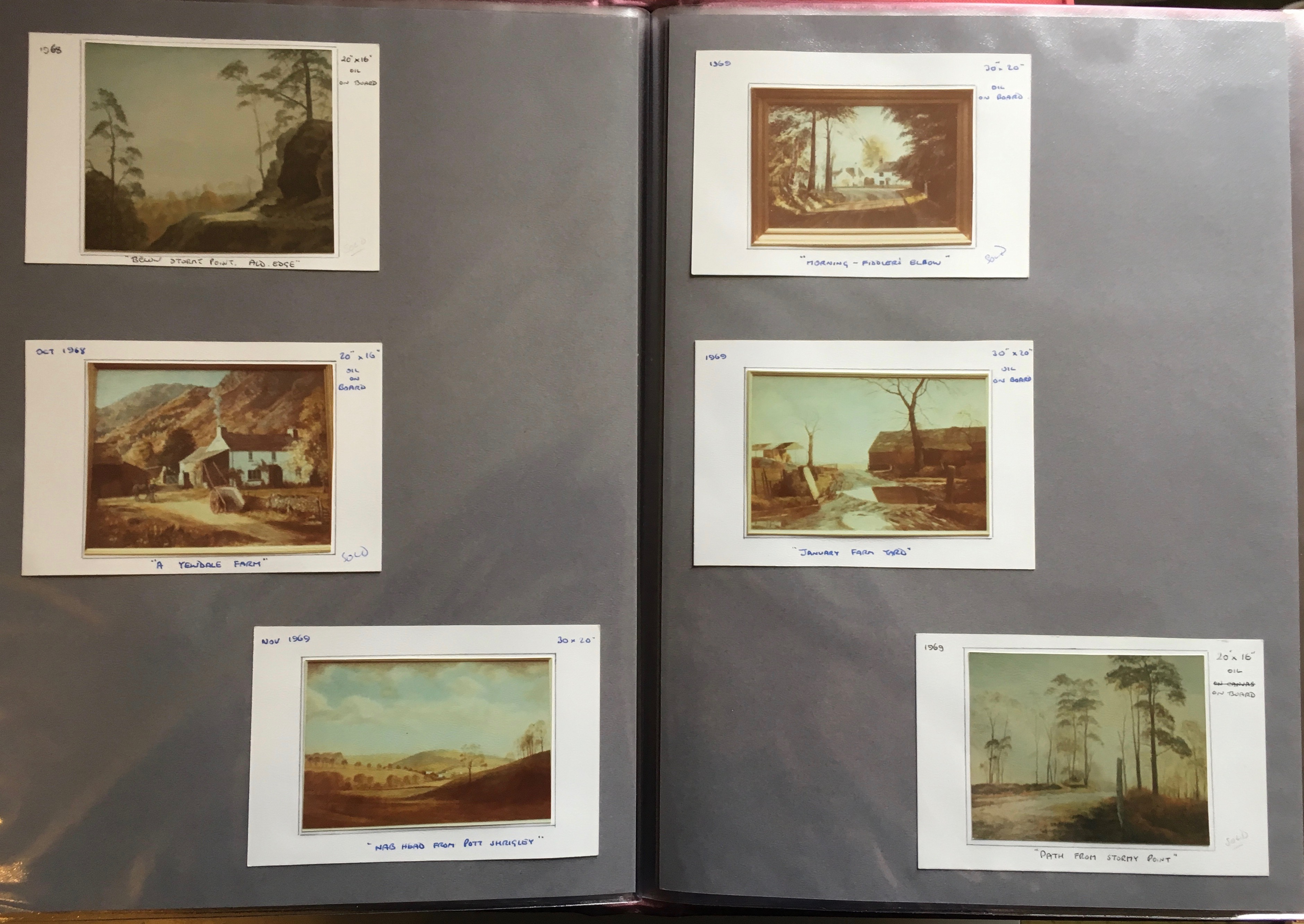 Photographic record of some of Cliff's Oil Paintings