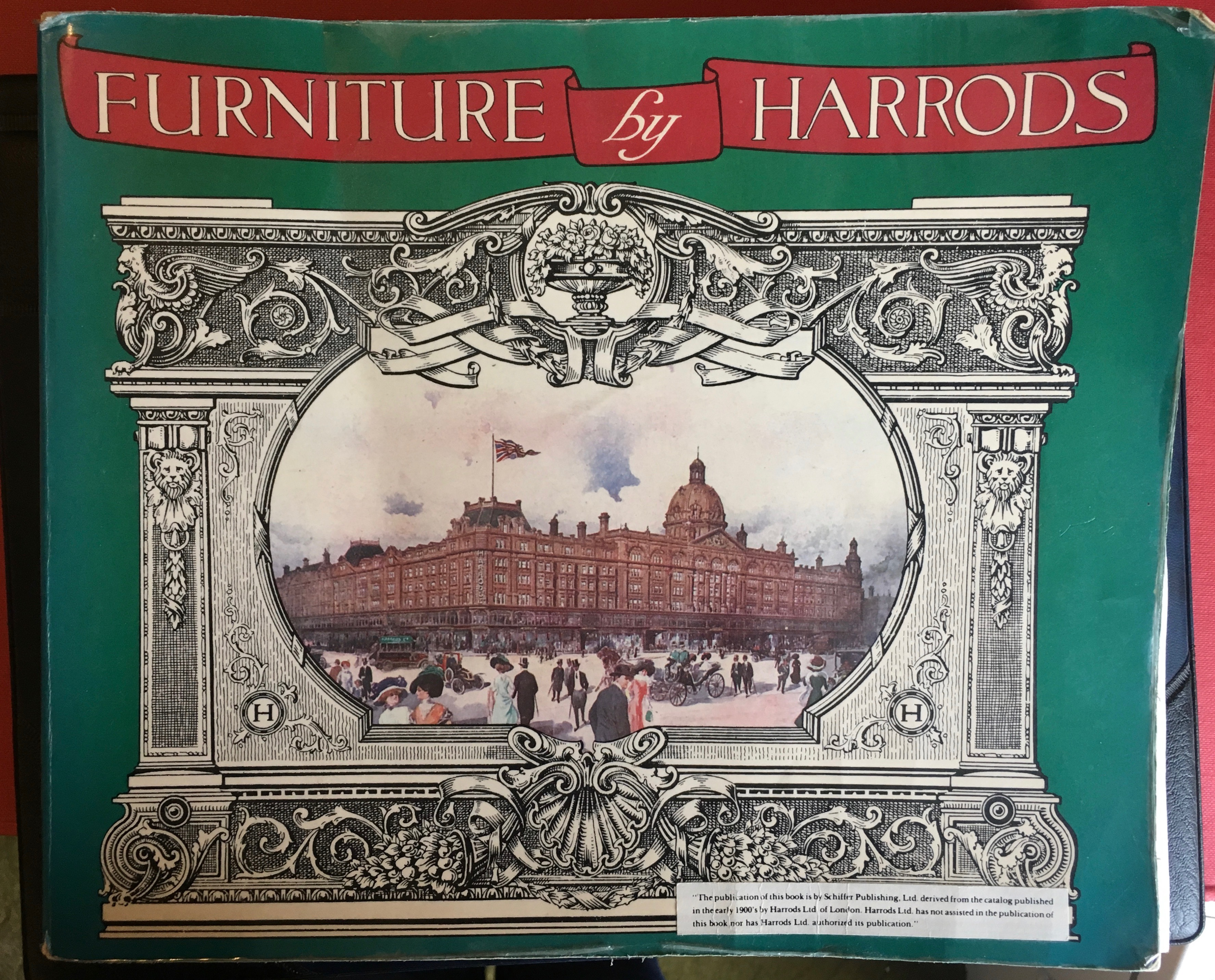 Cover of an Edwardian catalogue of Furniture by Harrods